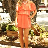 How To Save A Life Romper: Neon Coral
