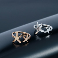 Double Starfish Nautical Ring: SAVE $2 TODAY