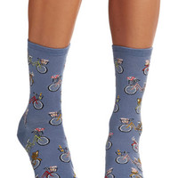 ModCloth Folk Art Relaxing Ride Socks