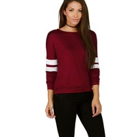 Burgundy Play Time Top