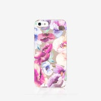 iPhone 6S Case Floral iPhone 6S Plus Case Floral Clear iPhone Case Watercolor Floral iPhone Case Clear iPhone 5 Case Clear Samsung S6 Case