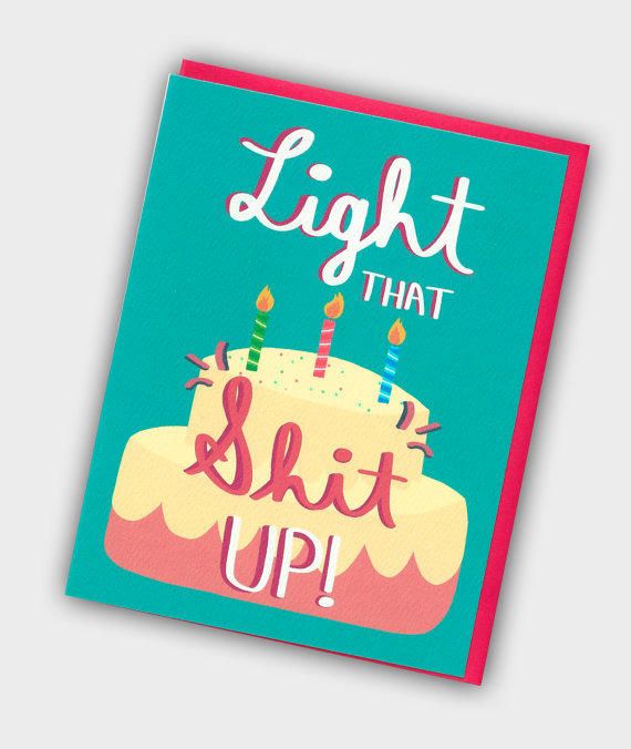 Funny Birthday Card Light That Sht Up From Turtles Soup