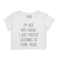 I'm Not Anti Social I Just Prefer Listening To Punk Music-T-Shirt