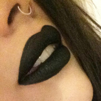 Black Lipstick  - Black Lips -  Opaque Matte Lipstick  BLACK-OUT