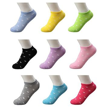 Womens Cotton Low Cut Ankle Socks Causal Workout with Designs