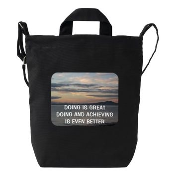 Achieving Quote by Kat Worth Duck Bag