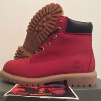 "Timberland 6"" Boot RUBY RED Premium Primaloft [6598R] Juniors Limited VILLA 4-7"