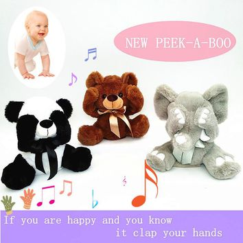 ANIMATED SINGING PEEK A BOO MUSICAL PLUSH TOY