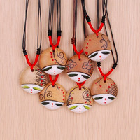 Free shipping ceramic pendant necklace personalized facebook national doll trend accessories  jewelry Necklaces & Pendants