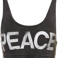 Peace Bra Top - Bralets & Bandeaus - Jersey Tops - Clothing - Topshop