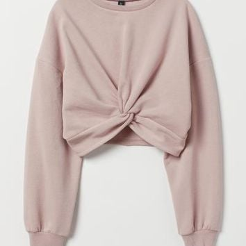 Tie-detail Top - Powder pink - | H&M US
