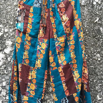 Patchwork Hippie Pants Gypsy Boho Bohemian style Festival Colorful fashion Clothing Harem pants Beach Trousers Wild Legs pants Gift women