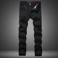Slim Black Casual Pants Fashion Strong Character Men's Fashion Skinny Pants [6544719747]