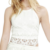 Crochet Open Back Halter Top from EXPRESS