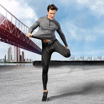 Brand Running Shirt Men Long Sleeve Sport T-Shirt Quickly Dry Breathable Fitness Yoga Clothes