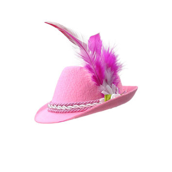 Mini Pink Bavarian Felt Hats Oktoberfest Costume Idea