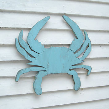 Mister Crab Blue Large Blue Crab Wall Art