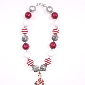 RTS Elf on the Shelf Chunky Necklace