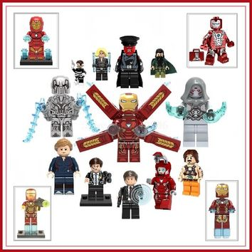 Legoing Marvel Iron Man Super Heroes Action Figures IronMan Pepper Ant-Man Ghost Building Blocks Toys For Kids Legoing Marvel DC