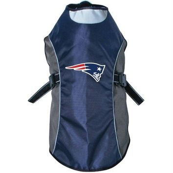 New England Patriots Water Resistant Reflective Pet Jacket