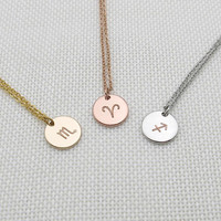 zodiac necklace,zodiac sign necklace,dainty necklace,constellation necklace,Bridesmaids Necklaces, Personalized Gift