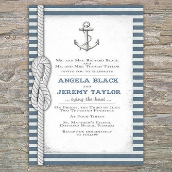 Nautical Invitation - DIY Printable invite for Wedding or Event