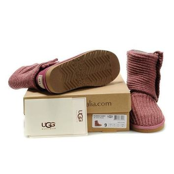 Cyber Monday Uggs Boots Knit Classic Cardy 5819 Vermeil For Women 81 14