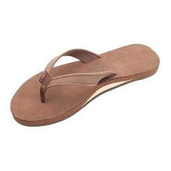 Women's Catalina Tapered Strap Premier Leather Sandal in Expresso by Rainbow Sandals