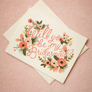 Blooming Bridesmaid Card