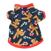 Dog Winter Clothes pets clothing Christmas Snow Printed Warm Puppy dog clothes for small dog girl u61002