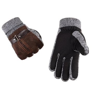 Winter Warm Non-slip Mens Thicken Gloves Outdoor Driving Skiing Hiking Cycling Golf Hunting Gloves