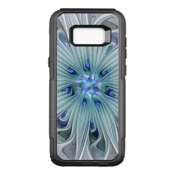 Floral Beauty Abstract Modern Blue Pastel Flower OtterBox Commuter Samsung Galaxy S8+ Case