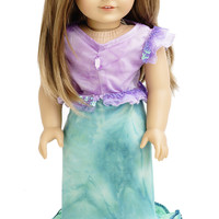 "Little Adventures Mermaid Princess 18"" Doll Dress with Hairbow"