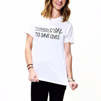 It's A Beautiful Day To Save Lives Grey Anatomy T-Shirt