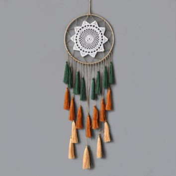 Fashion Gift Tassel & Lace Dreamcatcher Wind Chimes Tassel Pendant Big Dream Catcher Home Wall Hanging Decor Regalo Amor
