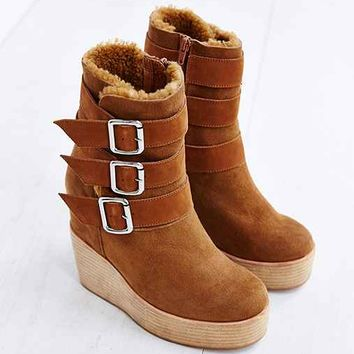 Jeffrey Campbell Hanlin Wedge Motto Boot-