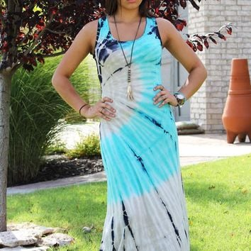 Free Your Mind Tie Dye Maxi Dress