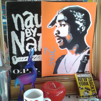 Tupac stencil art paintings on card,2pac,hip hop,west coast,california,U.S.A,music,fan art,pop art,spray paints,hand crafted,studio original