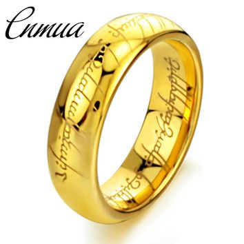 Fashion The Lord of The Ring, Men Rings and Women Rings ,Gold Silver and Black Color Couple Ring Titanium Steel Jewelry
