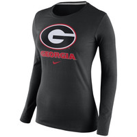 Georgia Bulldogs Nike Womens Logo Long Sleeve T-Shirt – Black