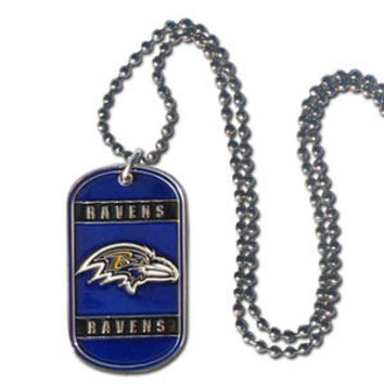 Baltimore Ravens Necklace Tag Style