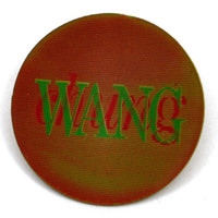 Vintage 80s Wang Chung Holographic Promotional Pinback Button Pin Badge