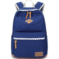 Sweet Lace Backpack Canvas Travel Bag