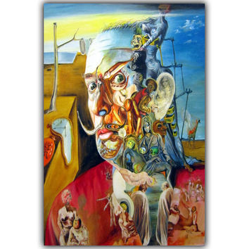 Salvador Dali Surrealism Abstract Painting Art Vintage Posters Photos Home decoration Silk 12x18 inches HH142