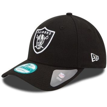 New Era Oakland Raiders Black The League 9FORTY Adjustable Hat - NFL
