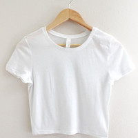 Basic White Crop Top