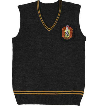 Harry Potter Cosplay Costume Gryffindor Slytherin Ravenclaw Hufflepuff Vest School Uniform Harry Sweater Waistcoat