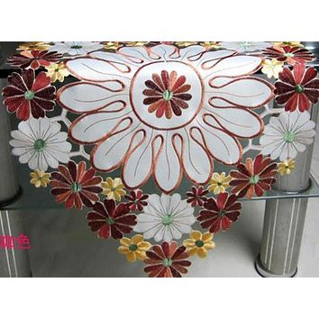 Modern  Fairy Bright  Colorful Lace Table Runner