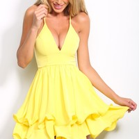 HelloMolly | Tell Me Something Dress Lemon