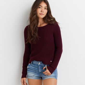 AEO UNIFORM CREW SWEATER